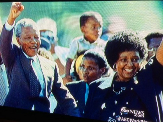 ABC news coverage of Nelson Mandella's death yesterday