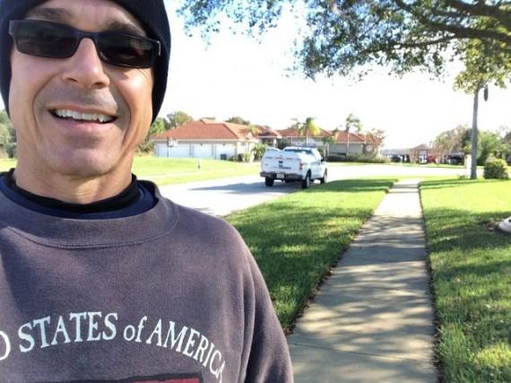 runner falls at lake Sheen Estates, Orlando, FL