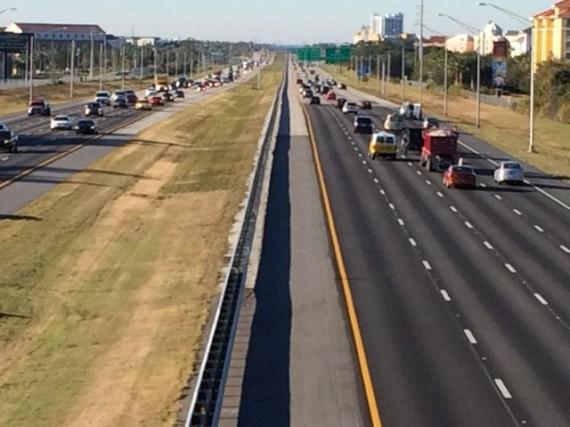 Central Florida's Interstate 4 near Walt Disney World