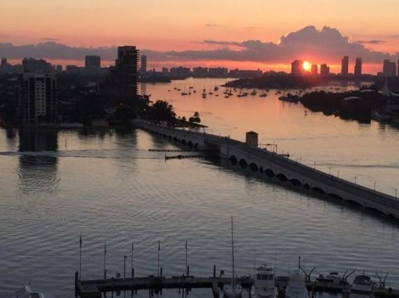 Collins Bridge Miami Beach from Marriott upper floor