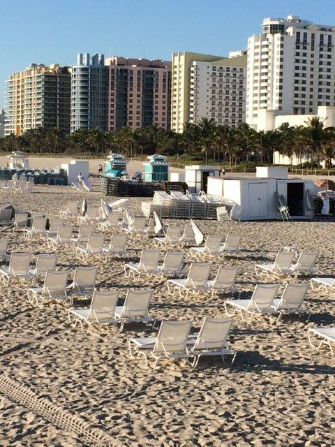 Miami Beach beach chairs