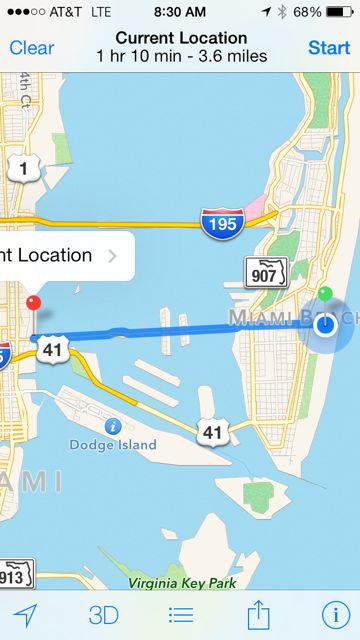 Miami Beach Goggle map