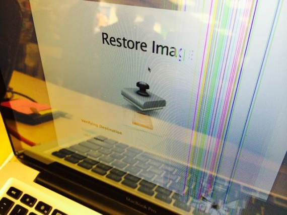 MacBook damage restored