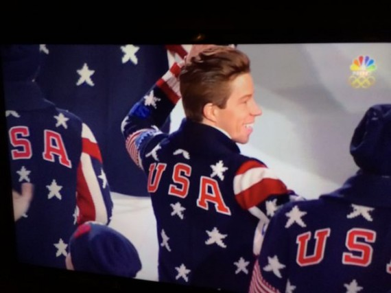Sean White at Sochi Opening ceremony