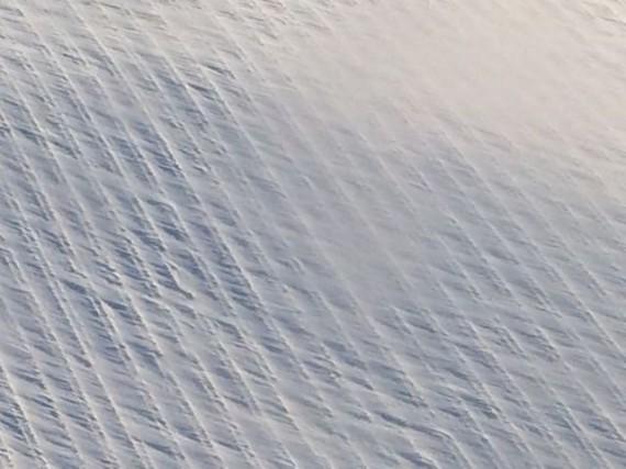 Iowa winter field covered in snow