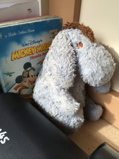 Eeyore doll and Disney children's books