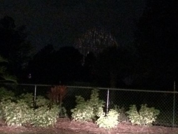 Disney's Magic Kingdom fireworks from nearby neighborhood