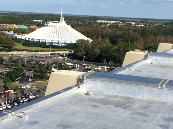 Disney's Space Mountain from Disney's Contemporary Resort observation deck