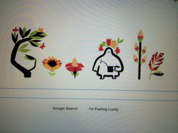 Google first day of Spring screen shot