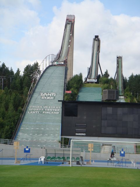 Lahti, Finland's three Ski Jumps Stadium