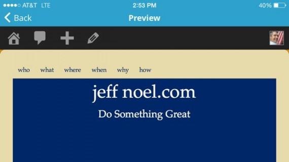 jeff noel website header