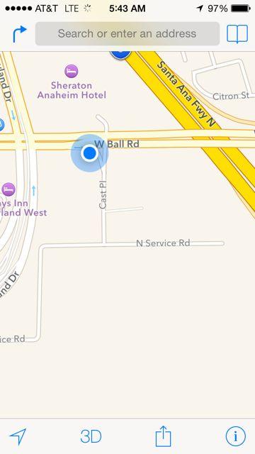 Disneyland GPS map
