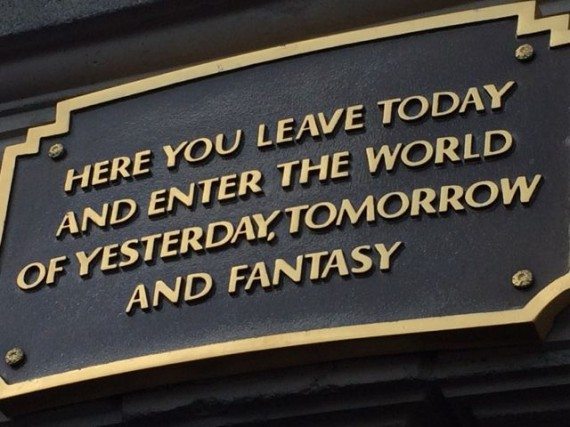 Disneyland entrance plaque