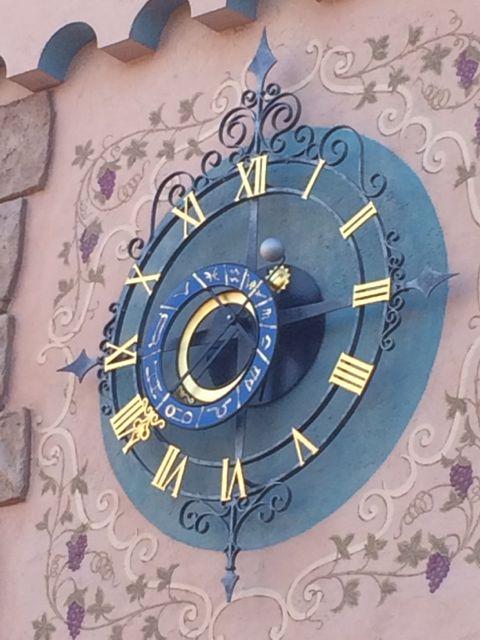 Disneyland Fantasyland clock