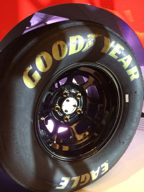 Goodyear race car tire closeup