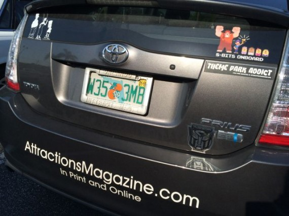 Orlando Attractions car decals