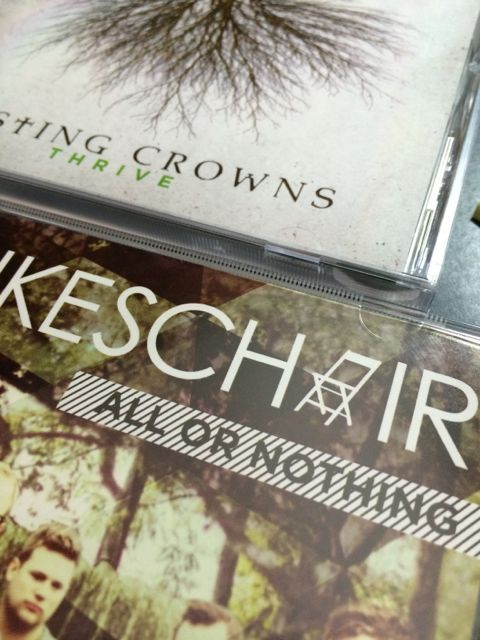 Casting Crowns and Mikes Chair CDs