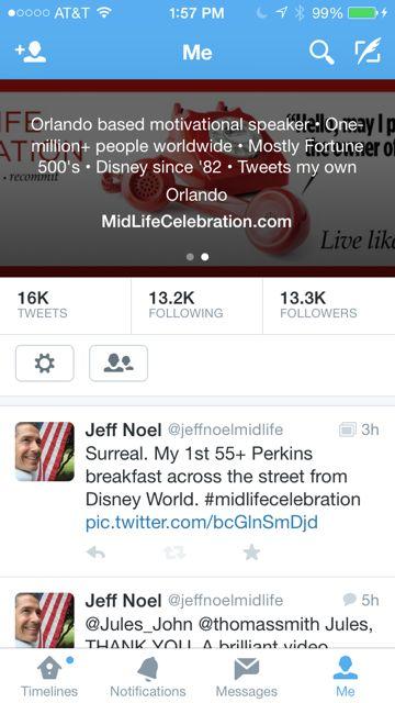 Mid Life Celebration Twitter bio
