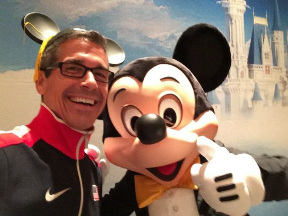 Orlando Based Motivational Speaker jeff noel with Mickey Mouse