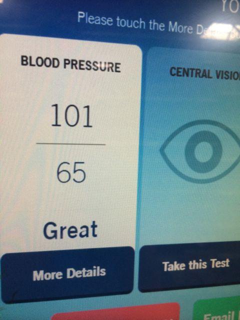 Free health tests machine at Walmart