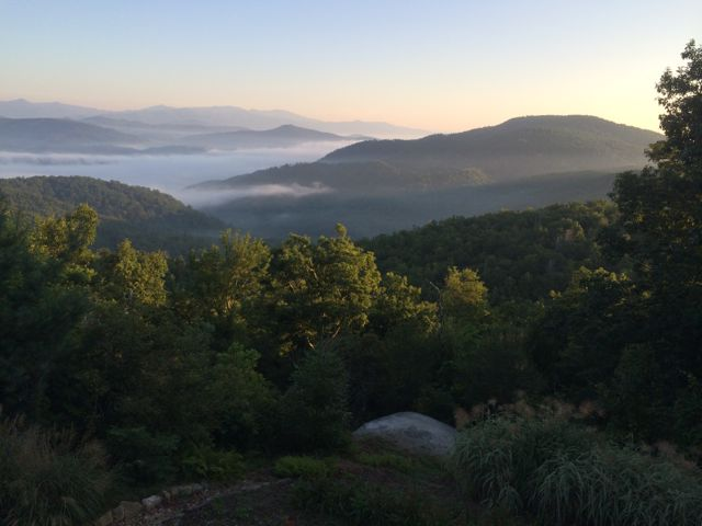 Blue Ridge Mountains at sunrise