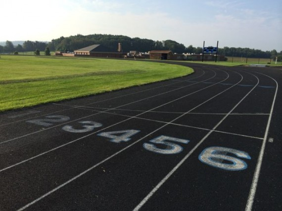 Six lane all-weather middle school track