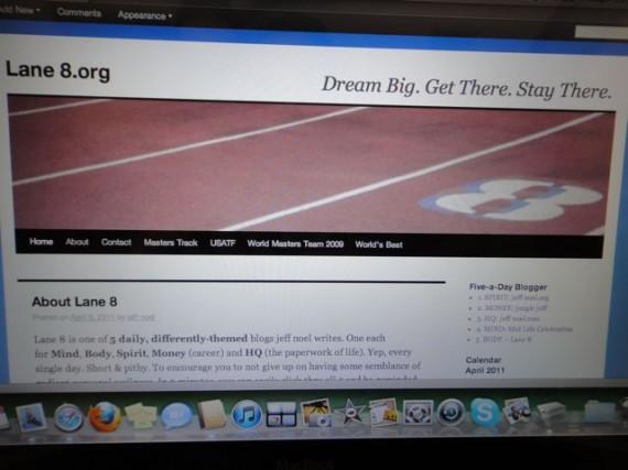 Lane 8.org old website header