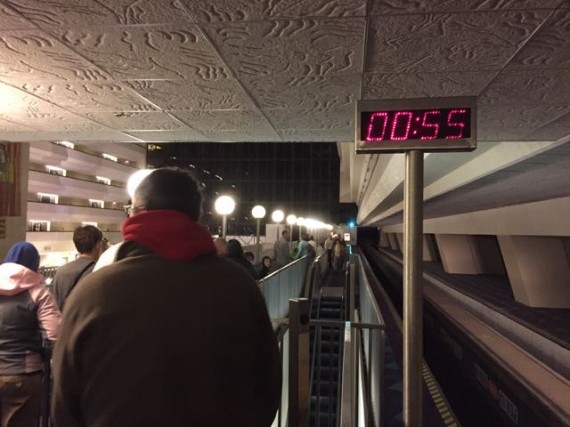 Disney Monorail station timeclock