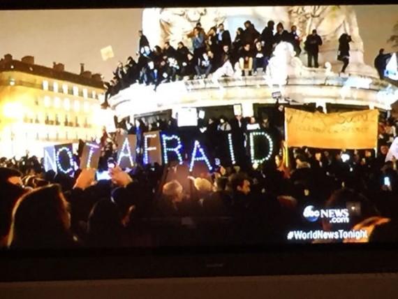ABC News covering Paris terrorists