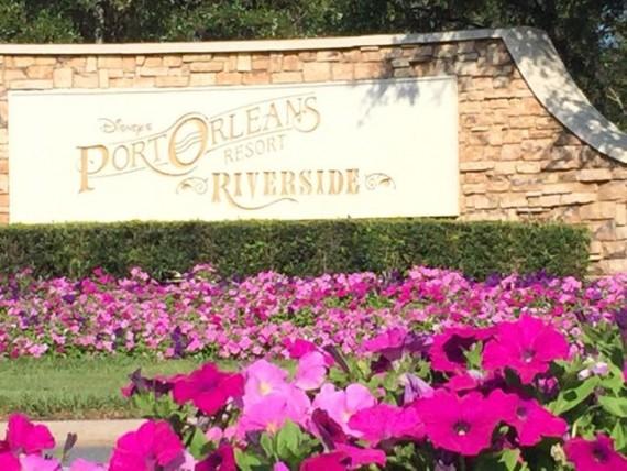 Disney's Port Orleans Riverside entrance sign