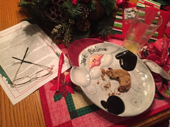 Christmas morning Santa's note