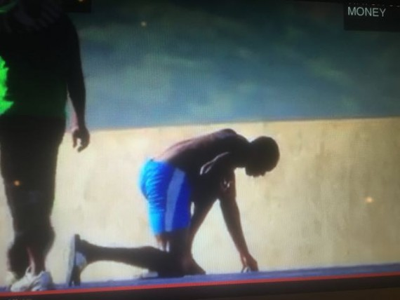 Usain Bolt vomiting after practice