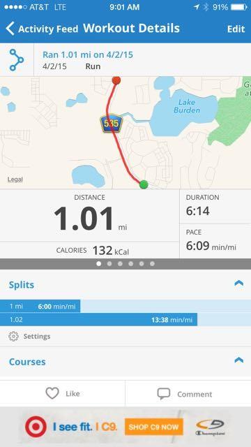 Map My Run Mile Split