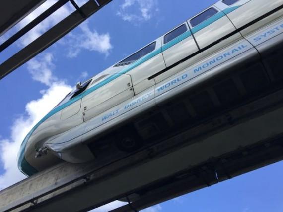 Disney Monorail closeup