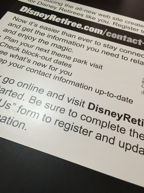 Disney Retiree website