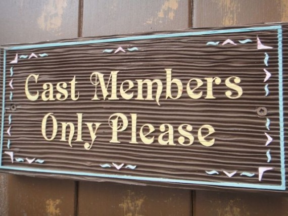 Disney Cast Member Only door sign