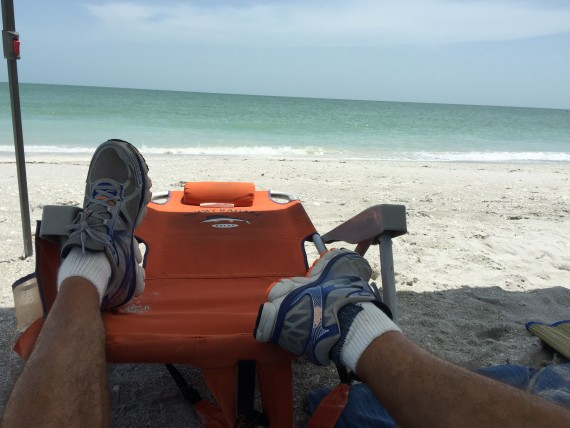 Feet up at the beach