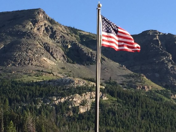 Rising Sun Motor Inn American Flag