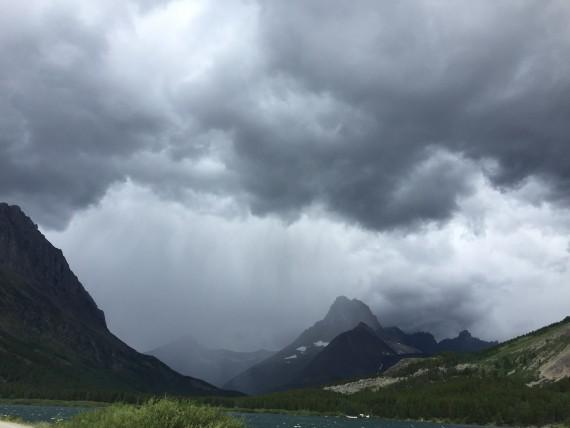 Thunder storm in Glacier Park
