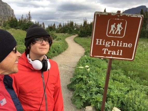 Highland Trail sign