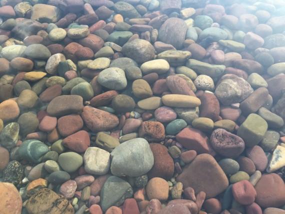 Lake McDonald lake rocks