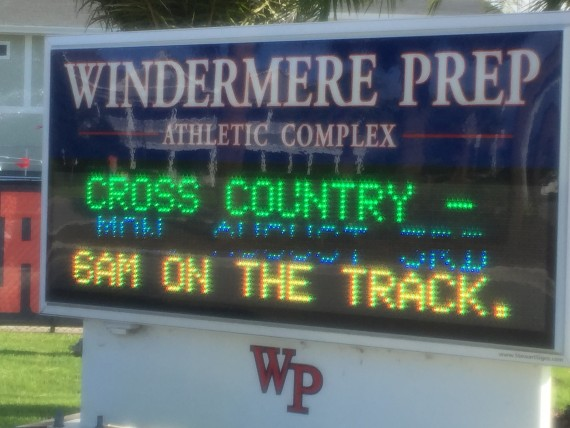 Windermere Prep Athletics sign