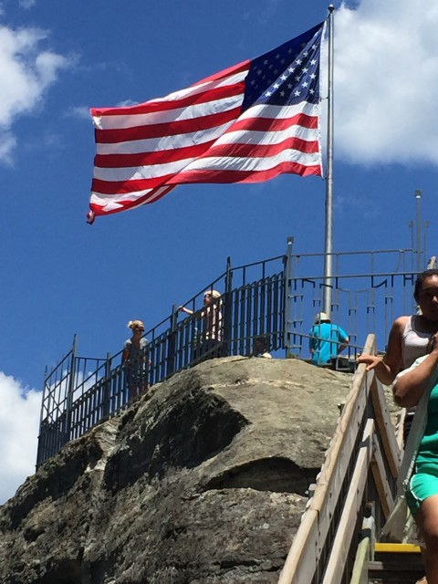 American Flag at Chimney Rock