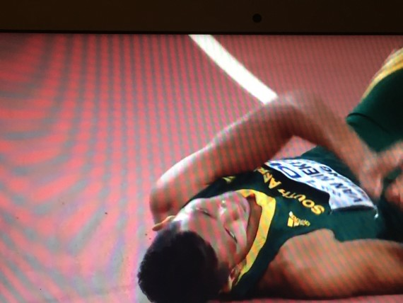 400 meter world champ from South Africa