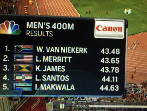 Fastest 400 meter final ever
