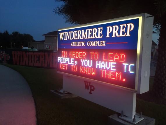 Windermere Prep School signage