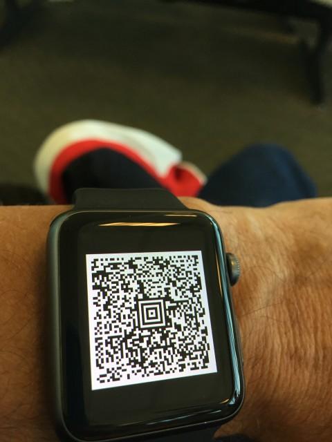 Apple Watch boarding pass