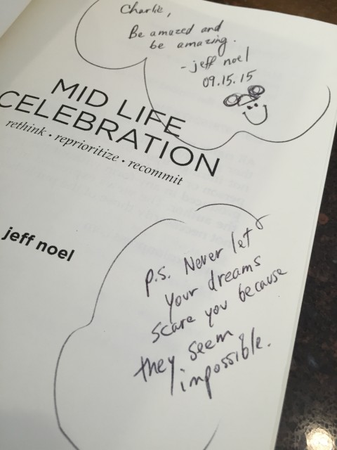 Autographed Mid Life Celebration book
