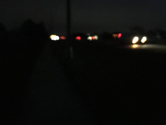 traffic in the darkness