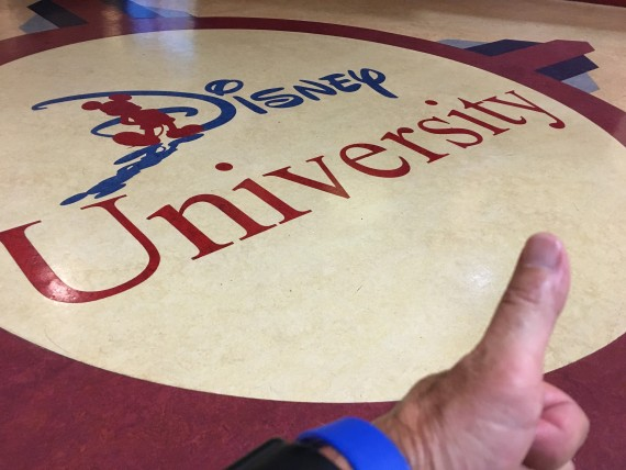 Disney University lobby floor icon